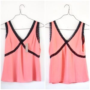 J. Crew Tops - NWT J. Crew size 2 vneck lace camisole in pink🌸